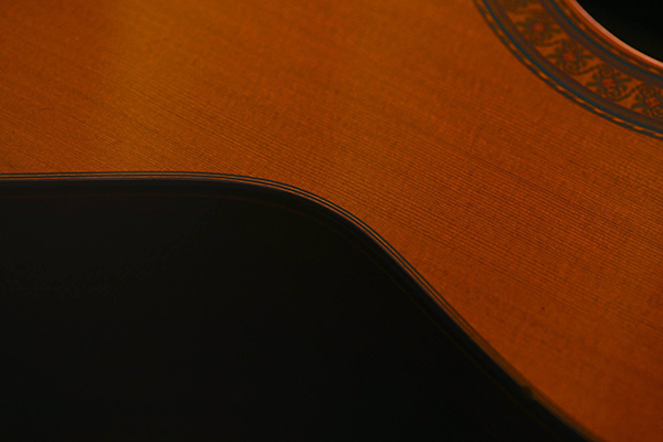 Curve of classical guitar