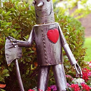 Tin Man in the garden