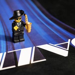 Blues Man Lego playing jazz